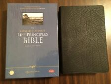 NKJV Charles Stanley Life Principles Study Bible - $74.99 - Black Bonded Leather