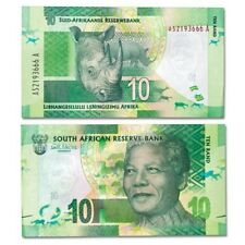 SOUTH AFRICA, 10 RAND, MANDELA, RHINO