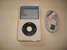 APPLE  IPOD  VIDEO  5.5 GEN.  CUStOM  WHITE/BLACK  120GB...NEW. BATTERY...