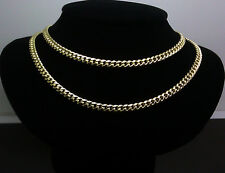 "10K Yellow Gold Men's Miami Cuban Chain 28"" Long, 5mm,Franco, Rope, Italian"