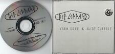 DEF LEPPARD PROMO CD WHEN LOVE & HATE COLLIDE