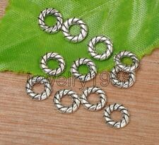 30pcs Tibetan Silver Donut Round Ring Small Spacer Beads 8mm F3340