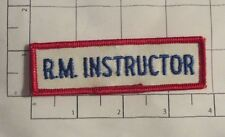 RM Instructor Patch - vintage