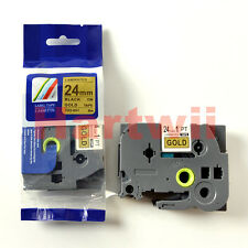 Brother TZ-851 P-Touch Label Tape Compatible Black on Golden 24mm 8M TZe851