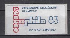Svizzera vignette Renens exphila 83 FRANCOBOLLI-esposizione esposizione philateliq