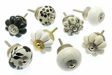 5 x Mixed Set of Shabby Chic Ceramic Knobs Cupboard Knobs Cabinet Drawer Pulls