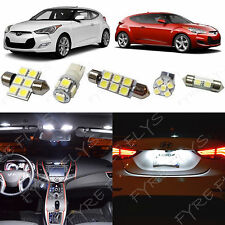 8x White LED lights interior package kit for 2012-2016 Hyundai Veloster YV1W
