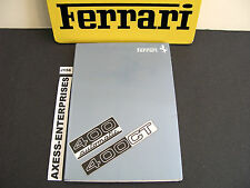 1977 1978 Ferrari 400 GT Automatic Owners Manual Drivers Instruction Book # J156