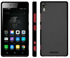 AMZER Exclusive Pudding Matte TPU Fitted Case Cover For Lenovo Vibe Shot - Black