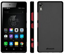 Amzer Exclusive Pudding Matte TPU Aderente Custodia Cover per Lenovo Vibe SHOT-Nero