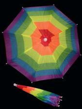 RAINBOW FLAG UMBRELLA HAT novelty hats headwear golf fishing crazy rain gear
