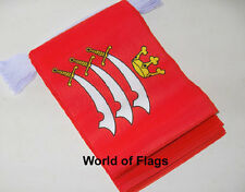 MIDDLESEX FLAG BUNTING 9m 30 Fabric Party Flags English County England Counties