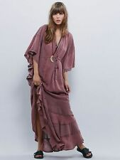 New Free People Endless Summer Fawn Light Purple Valencia Kaftan Dress Size XS