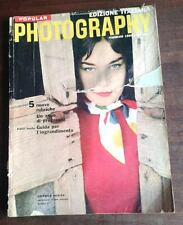 1960 POPULAR PHOTOGRAPHY ITALIANA FOTOGRAFIA RIVISTA FOTO TECNICA ACCESSORI