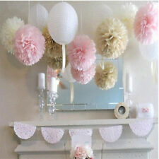 20pcs Home Wedding Party's Xmas Outdoor Decor Flower Balls Pom Poms Tissue Paper