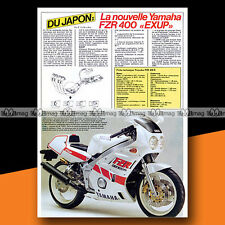 ★ YAMAHA FZR 400 R EXUP ★ 1987 Article de presse Moto / Original Article #a1301