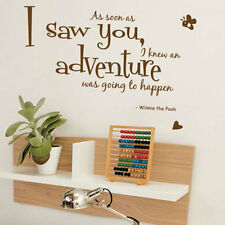 Winnie The Pooh, As Soon As I Saw Children Art Wall Quote Stickers Wall Decal 44