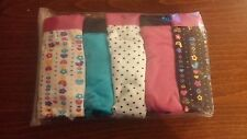 Ladies 95% Cotton. Pack of 5 boypant style briefs. Fushia. Size 8