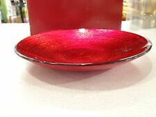 """4 AWESOME! MIKASA CHRISTMAS CELEBRATION RED & GOLD 8.5"""" PLATE  RETIRED 2007"""