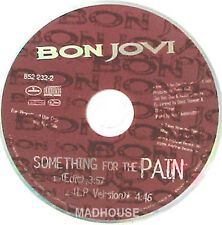 BON JOVI CD SOMETHING FOR THE PAIN UK 2 TRACK PROMO UNP
