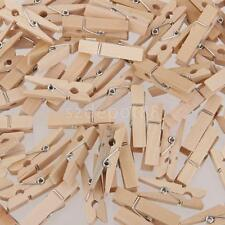 100x MINI WOODEN PEGS CLOTHES PINS FOR CRAFTING CARDMAKING SCRAPBOOK 25x3MM