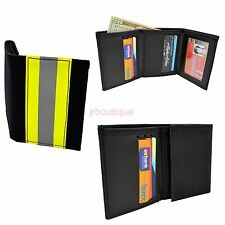 Firefighter Wallet Bunker Turnout Gear Leather Trifold Fire Department NOMEX