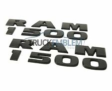 2 NEW MATTE BLACK DODGE RAM 1500 EMBLEMS NAMEPLATES BADGES 2013-2016