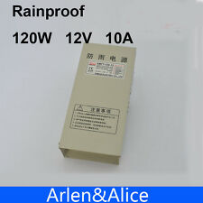 120W 12V 10A Rainproof outdoor Single Output Switching power supply smps for LED