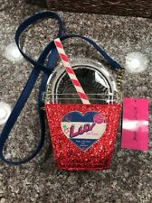 Betsy Johnson cherry ice cream flavor soda LUV made with sass & sparkles purse