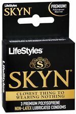 LifeStyles SKYN Condoms Lubricated Non-Latex 3 Each
