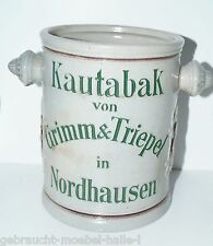 100 Jahre alter Jugendstil Grimm & Triepel Kautabak Topf Tabaktopf Steingut
