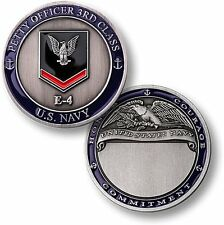 US Navy Petty Officer Third Class Challenge Coin PO3 Crow 3rd E4 USN Rank PO