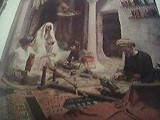 ephemera old undated book plate the carpet weaver algiers armand point