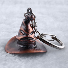 Harry Potter Sorting Hat Metal Pendant Key Chain Magic Ring Collection Gift