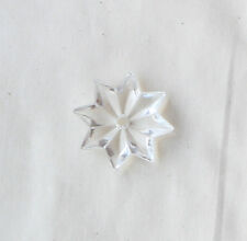 Lot of 20 Antique 22 mm Clear Czecho 1 Hole Star circa 1920's