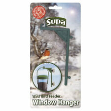 Supa Wild Bird Feeder Window Hanger Green