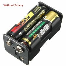 4x AA Batteria battery Holder case Back to Back Snap a connettore racchiuso box