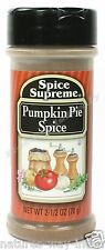 Spice Supreme® PUMPKIN PIE SPICE new & fresh USA MADE seasoning spices baking