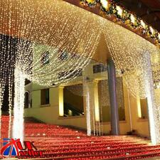 300 LED Fairy String Curtain Light Home Xmas Party Wedding Decor Lamp Warm White