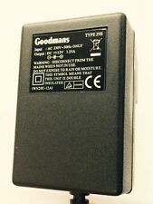 Goodmans WN20U-12A 12V 1.25A Adapter AC/DC for GDVD100W3 DVD Player TYPE 29B