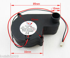 1pc Brushless DC Cooling Blower Fan 12V 0.25A 55x55x28mm 5028B 2pin Connector