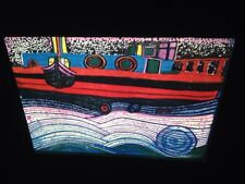 "Hundertwasser ""Regentag On Waves Of Love"" Austrian Modern Art 35mm Slide"