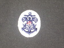 Sea Scout Emblem on White Oval Patch, 30 by 23 mm