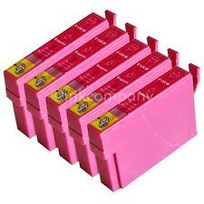 5 kompatible Tintenpatronen rot für den Drucker Epson SX130 S22  SX230