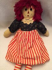 "Vintage Raggedy Ann Doll By Unicorn Merchandise Corp.Collectible 18"" Very Cute!"