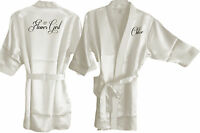 PERSONALISED CHILDS / CHILDRENS KIMONO WEDDING ROBE/ ROBES/GOWN - BRIDE BRIDAL