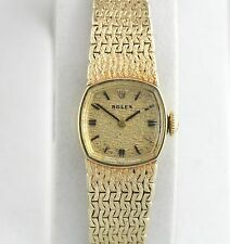 Rare Solid 14K Yellow Gold ROLEX Montres 1400 17J Watch Vintage YG Ladies Italy