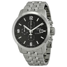 Tissot PRC 200 Automatic Chronograph Black Dial Stainless Steel Mens Watch
