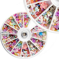 1200pcs Wheel Mixed 3D DIY Nails Glitter Shining Rhinestones Art Tips Decoration