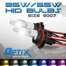Optix 35W HID Xenon Bulbs Hi Lo Head Lights 2x - 9007 HB5 8000k 8k Ice Blue (A)